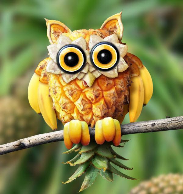可爱的水果小动物